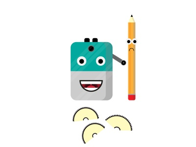 sad pencil friend pencil sharpener pencil illustrator illustraion