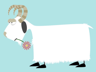 Shaggy Goat! Illustration for a new book coming soon