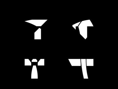 T Logo vol.1 modern unique arsyadee minimal website typography flat dummy branding web app abstract simple type market template pack logo exploration t