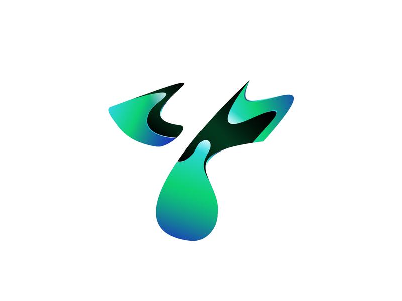 Y business brand trend liquid letter y abstract app graphic design arsyadee branding design gradient exploration logo modern futuristic green