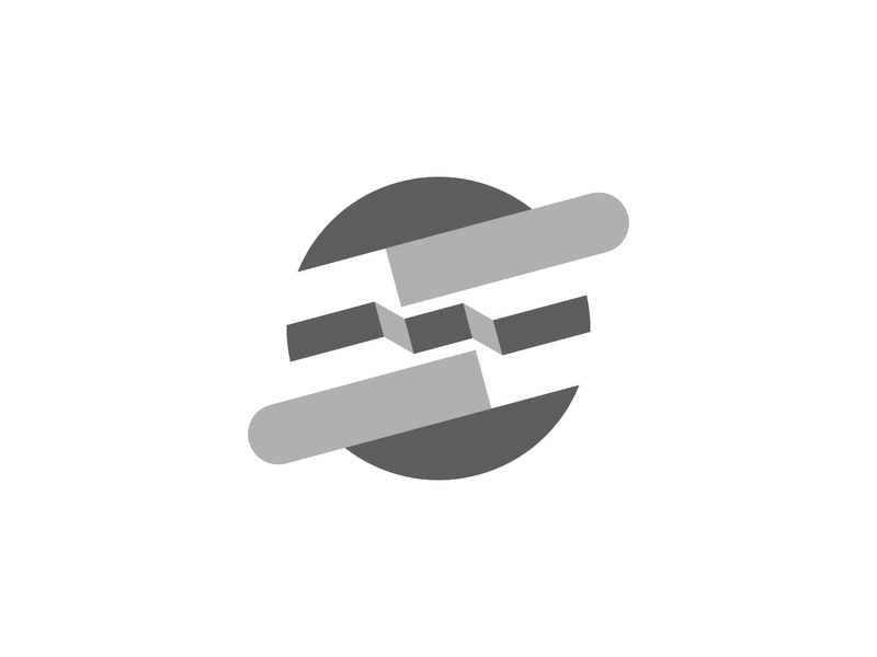 Abstract Round graphic design grey tech company brand logo company logo company template graphic design brand vector business modern logo branding app exploration abstract