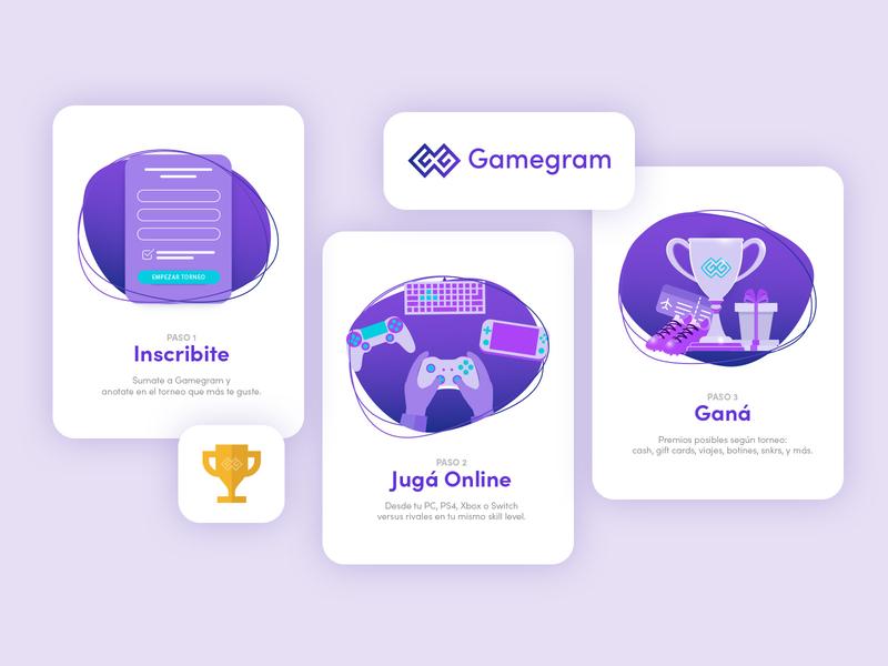 Gamegram | Website Design gaming gamers gamer logo logo design logo illustration ui design web website design ux design design