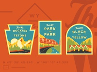 Wyoming Road Trip Stickers