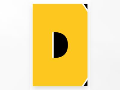 D - DockYard Alphabet Project dribbble illustration letter dockyard poster collection poster challenge poster art alphabets poster