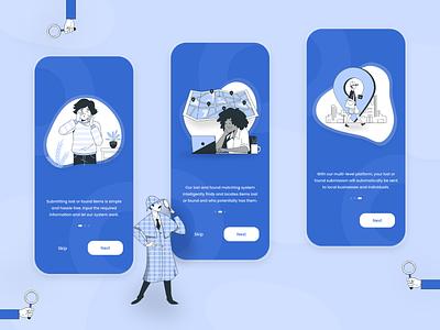 EasyFind Mobile app - Onboarding adobexd app clean illustration minimalist ux ui dailyui onboarding