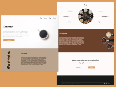 Daily UI 003: Landing Page branding ui dailyui