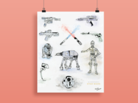 Illustrated Guide to Star Wars poster