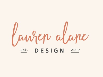 Lauren Alane Design LLC logo lauren alane logo branding designer graphic designer personal branding orange logo typography script signature graphic design est. 2017 custom logo branding and identity branding design