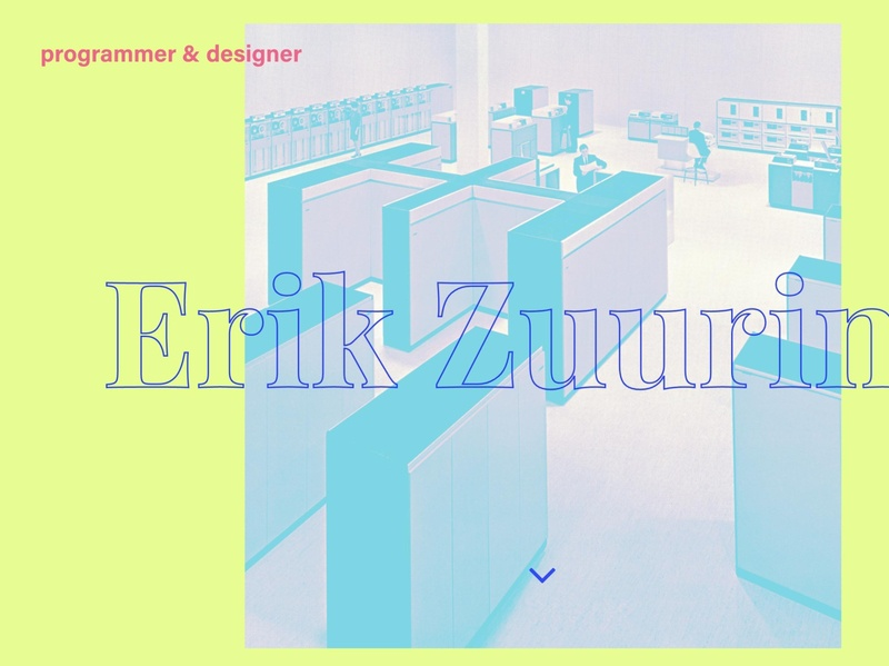 New website colorful website typography