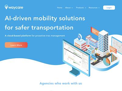 Waycare website design marketing app design website