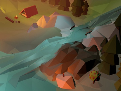 Low Poly Camp lowpoly videogame 3d