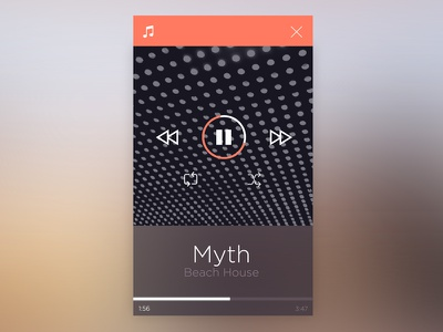 Flat Music App music player app design concept