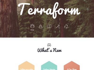 Terraform Homepage web forest homepage design