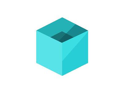 Flat Cube cube flat logo graphic