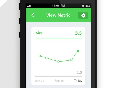 Metric Tracking ios app metric chart