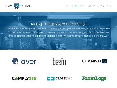 Drive Capital website design ui design investment