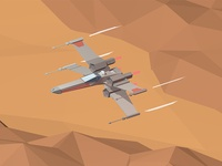 X-Wing over Tatooine