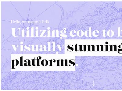 New Website Launch typography website design