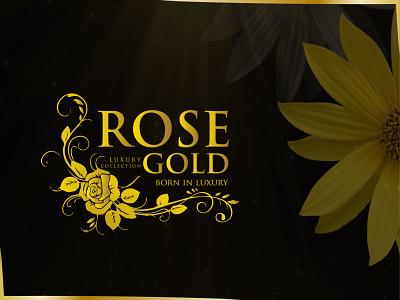 ROSE GOLD - Born In Luxury rose logo rose rose gold logo design inspiration logo design concept graphic design logodesign brand identity typography flat design minimal branding jewelry logo luxury brand luxury design luxury luxury logo logo design logo