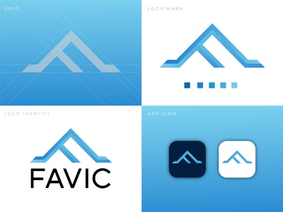 FAVIC -  F + Triangle Logo Design C oncept logotype modern logo brand identity brand design favic logo concept logo inspiration corporate logo minimalist logo logo trends 2021 dribbble best shot graphicdesigns logodesigns designer art logodesigner branding graphicdesign logodesign design logo