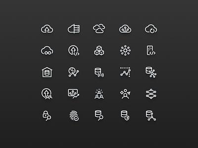 Technology Icon Set iconset iconography ui line tech product icons