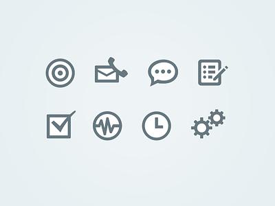 Web App Icons icons blue flat white
