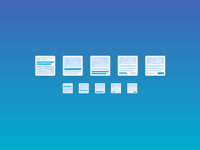 Icons for Web App blue sketch web app icons