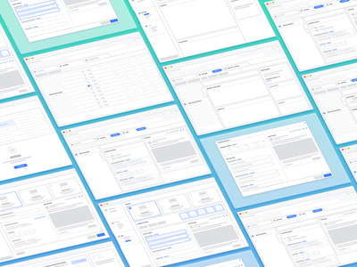 Isometric wireframes for the win! blue sketch isometric user experience interaction design ux ui wireframe wireframes