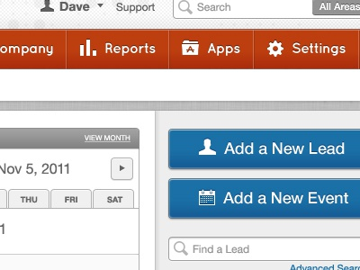 Dashboard Redesign for Web App web app dashboard redesign red blue gray texture icons nav button search