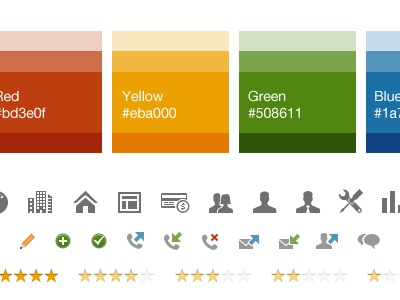 Pattern Library pattern library color palette color shades icons stars rating