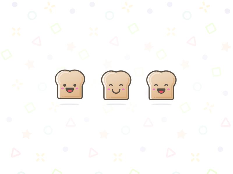Toast! illustration pattern icon bread toast character