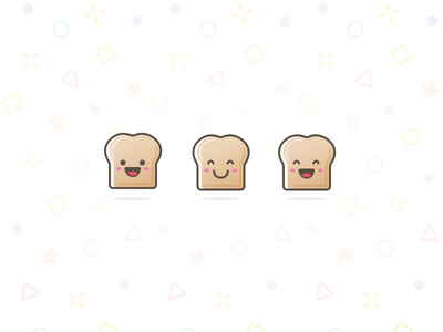 Toast! illustration pattern icon bread toast character