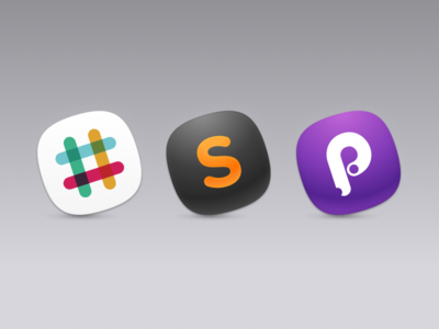 Replacement OS X Icons for Slack, Sublime Text, and Principle