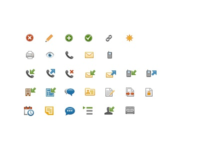 Updated Icons for Web App icon icons vector application web app color