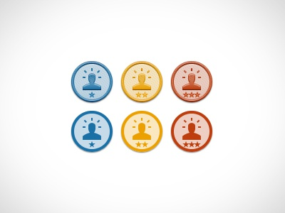 Patches (or Badges?) for Web App patches badges yellow blue red web app