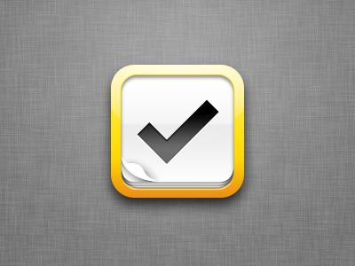 iOS Icon for Tasks App texture icon app app icon ios checkmark mobile paper tick to do