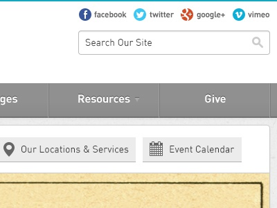 The Rock Church - Website Redesign website redesign church the rock the rock church blue gray white gotham din icon button