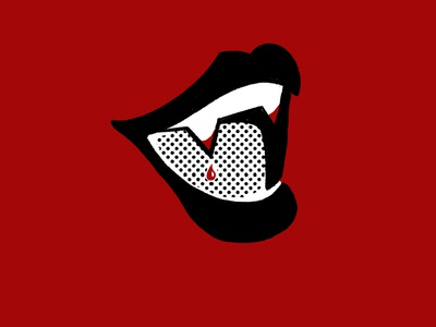 Vamp design retro branding illustraion halftone comic brand identity