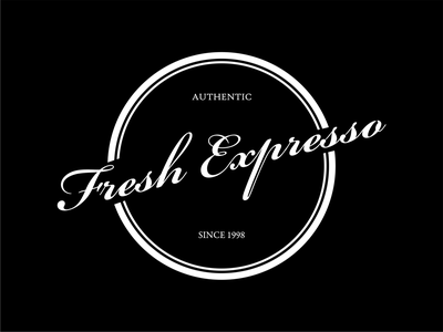 Logo Line Art Fresh Expresso (White) good logo art art corel draw authentic perfectly top elegant minimalist simple black white white black vintage monokrom retro line art line logo design