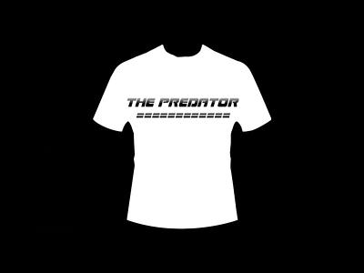 The Predator (Design T Shirt) the predator good art adobe photoshop authentic perfectly top elegant minimalist simple black white white black vintage monokrom retro sentence word t-shirt design