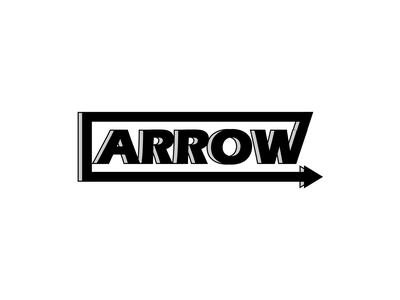 Arrow   Simple And Minimalist Logo letter word 3d typogaphy vector gray line icon arrow white logo black corel draw perfectly good minimalist simple elegant authentic design