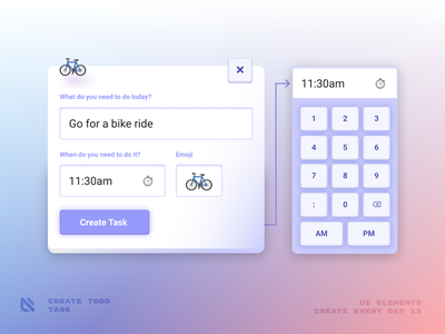 Create New Task - Todo List Application lite pink purple soft appdesign app webdesign uidesign ux design task todolist todo ux ui design