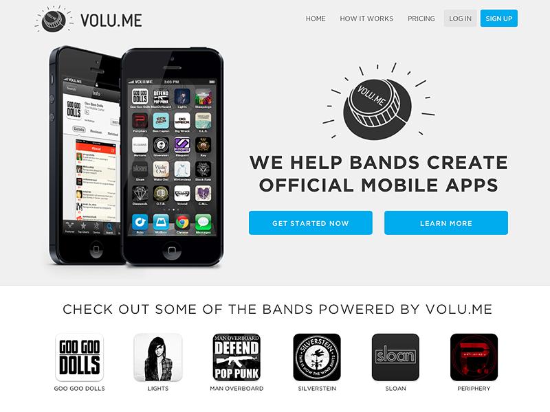 Volu.me Sales Site website web