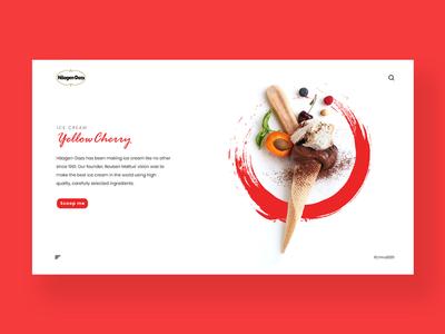 Yellow  Cherry website design inspiration ui design inspiration design inspiration ux ui app website design ice cream haggen dazs