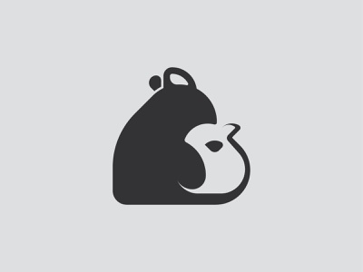Mouse with a small motherhood rodents animals vector animal mark branding design flat brand logo baby small mouse pad
