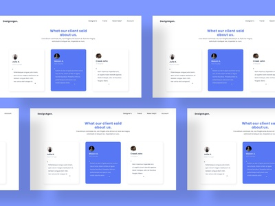 Testimonials - Web concept comments soft minimal portfolio companies logos quote web design product website clean page testimonials startup business testimonial feedback marketplace service