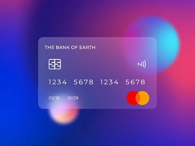 Glassmorphism - Credit Card UI web ui mobile ui ux ui illustraion clean bank card premium 3d glass bank mastercard card finance money blur glassmorphism