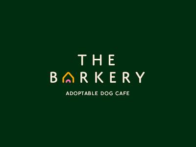 The Barkery pink yellow green freelance branding graphic logo graphic design design brand woof barkery newzealand cafe dog