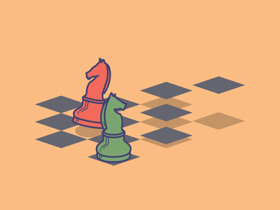 Strategy icon (6/7) illustration knight strategy chess icon
