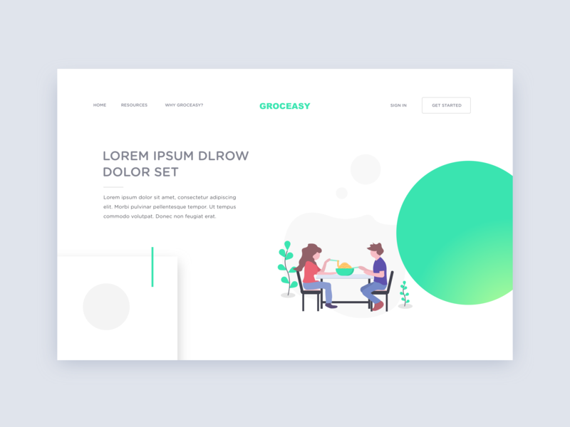 Groceasy | Grocery Management App gradients green dilawer binary vision studios main page landing type web website typography vector design animation app ui flat illustration dribbble